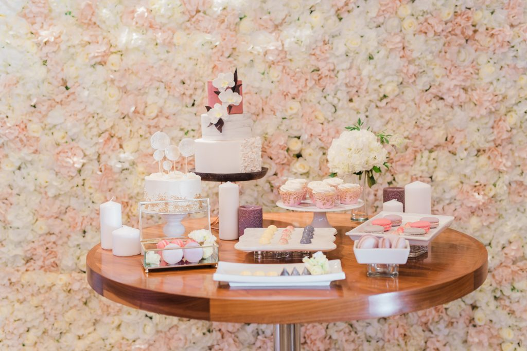 Tranquility Flower Wall x Sweet Table