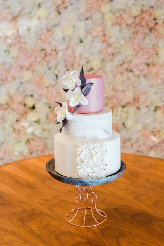 Tranquility Flower Wall x Cake Table