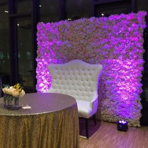 Tranquility Flower Wall x Head Table Backdrop