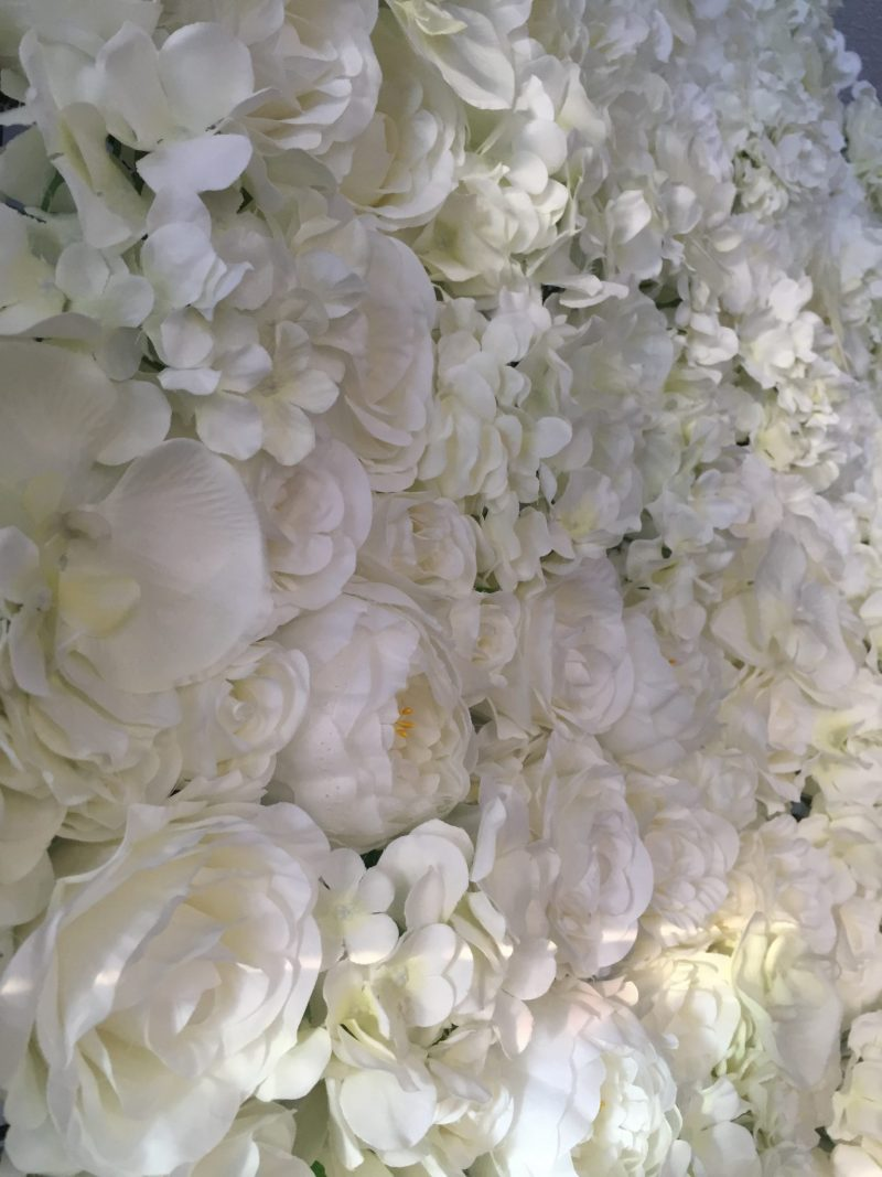 Pure Ivory Flower Wall