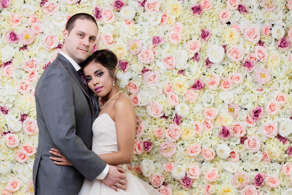 Eternal Spring Flower Wall x Bride & Groom