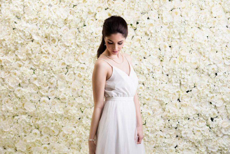 Pure Ivory Flower Wall x Lesha