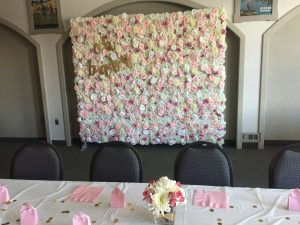 Eternal Spring Flower Wall x Baby Shower with Signage