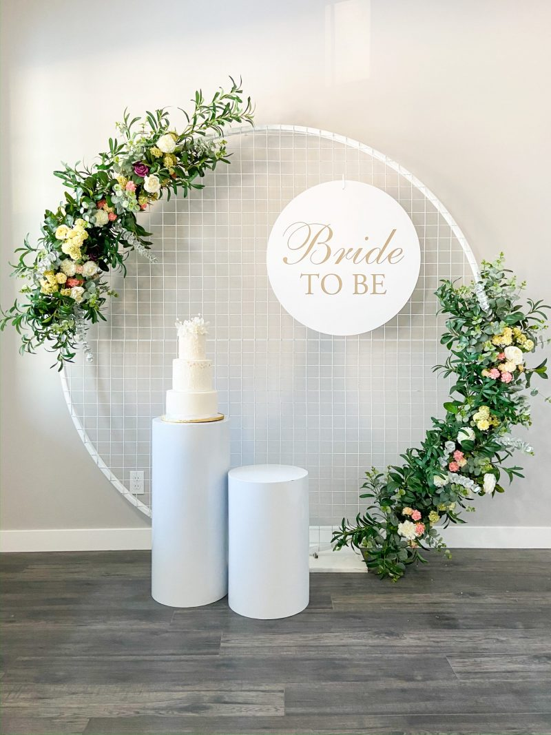 Mesh Backdrop Bride To Be